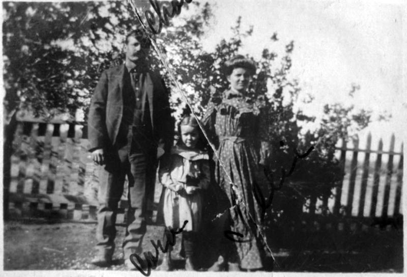 Charles, Tillie and Cora - about 1907.