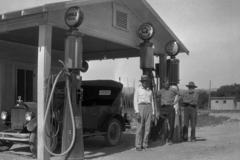 Magnolia Filling station at Phantom Lake Camp - 1929.